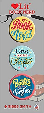 Book Nerd 3 Badge Set