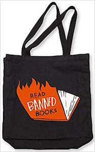 Banned Books Tote (flames)