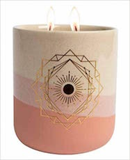 Gratitude Ceramic Scented Candle -11 oz. ( Grapefruit & Rose oils)