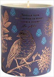 JA: Indulge Ceramic Cndl  Drk Blue (8.5 oz. Gardenia)