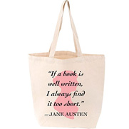 Lovelit Tote Jane Austen Quote