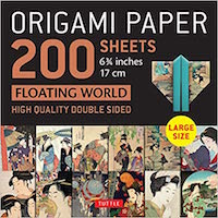 Origami Paper 200 sheets Floating World 6 3/4