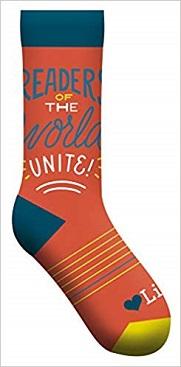 Readers of the World Unite socks (GS)