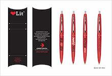 Rebel Rebel Pens (LoveLit Mini Bic Click Pens Set)